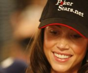 Shannon Elizabeth with Poker Stars hat